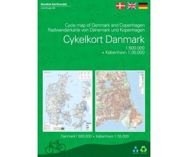 Cykelkort Danemark (+ Kobenhavn)