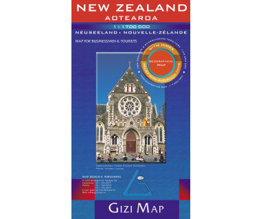 New Zealand (geographical) - Mapa