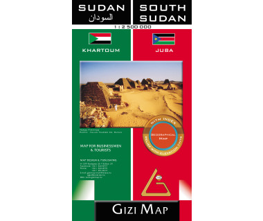 Sudan, South Sudan (geographical) - Mapa