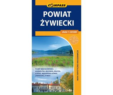 Powiat żywiecki - Mapa