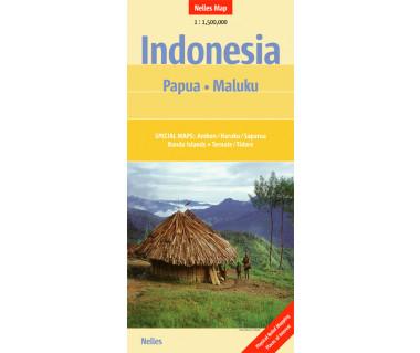 Indonesia Papua Maluku - Mapa