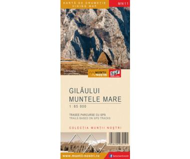 Gilaului Muntele Mare harta de drumetie/hiking map