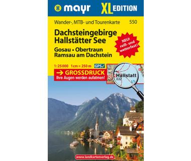Dachsteingebirge, Hallstatter See - Mapa laminowana