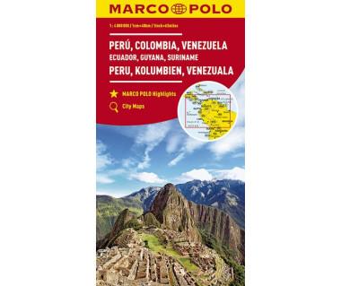 Peru, Colombia, Venezuela (Ecuador, Guyana, Suriname)