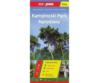 Kampinoski Park Narodowy mapa laminowana