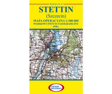 Stettin (Szczecin) mapa operacyjna ark. 42 reedycja WIG 1938 r.