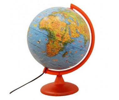Globus ze zwierzętami Zoo Globe 25 cm (podświetlany)