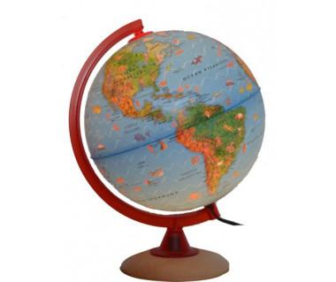 Globus ze zwierzętami Circus Globe 25 cm (podświetlany)
