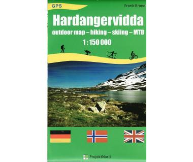 Hardangervidda outdoor map hiking skiing MTB