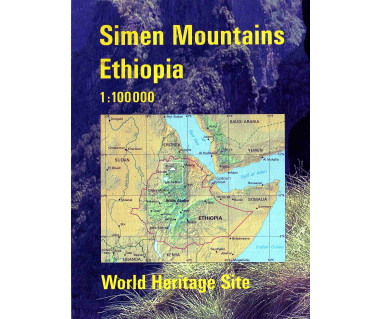 Simen Mountains Ethiopia - Mapa