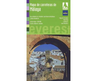 Malaga region road map