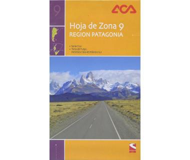 Hoja de Zona 9 - Region Patagonia. Santa Cruz, Tierra del Fuego, Antartida e Islas del Atlantico Sur