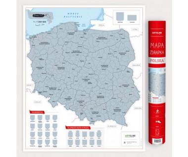 Polska mapa zdrapka
