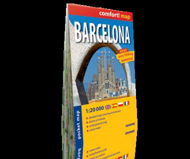 Barcelona plan laminowany kieszonkowy