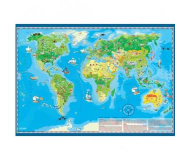Świat mapa młodego odkrywcy podkładka