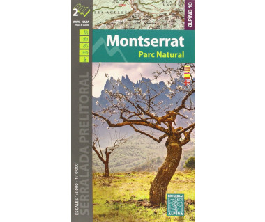 Montserrat Parc Natural - Mapa turystyczna