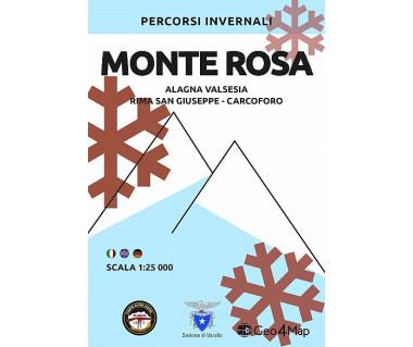 Monte Rosa - Alagna Valsesia - Rima San Giuseppe - Carcoforo mapa zimowa