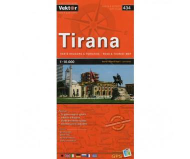 Tirana (434) mapa laminowana miasta i regionu