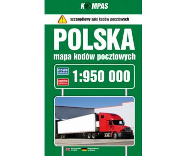 Polska mapa kodów pocztowych
