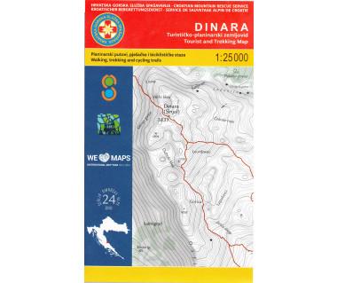 Dinara tourist and trekking map