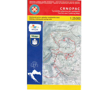 Crnopac tourist and trekking map