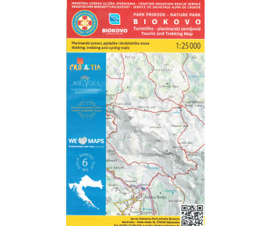 Biokovo Tourist and Trekking map