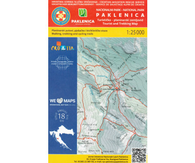 Paklenica Tourist and Trekking map