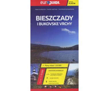 Bieszczady i Bukovske vrchy mapa laminowana