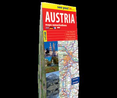 Austria mapa samochodowa