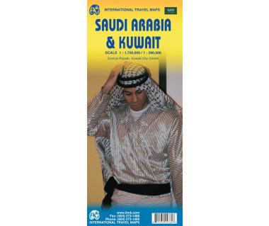 Saudi Arabia & Kuwait - Mapa