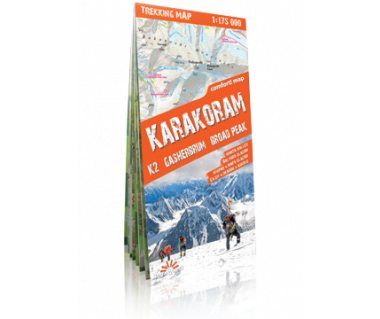 Karakoram (K2, Gasherbrum, Broad Peak) trekking map