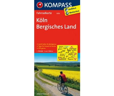 Koln, Bergisches Land - Mapa rowerowa