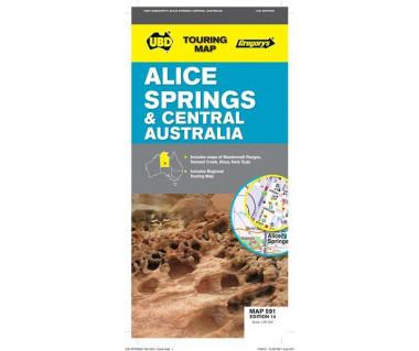 Alice Springs & Central Australia - Mapa