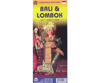 Bali & Lombok - Mapa wodoodporna