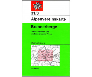 Brennerberge - Mapa turystyczna