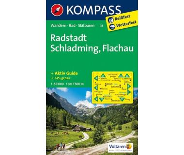 Radstadt, Schaldming, Flachau (folia) - Mapa turystyczna