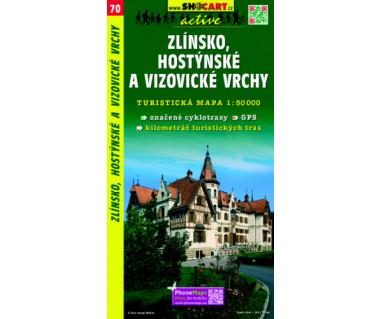 Zlinsko, Hostynske a Vizovicke Vrchy - Mapa