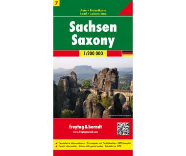 Sachsen - Mapa