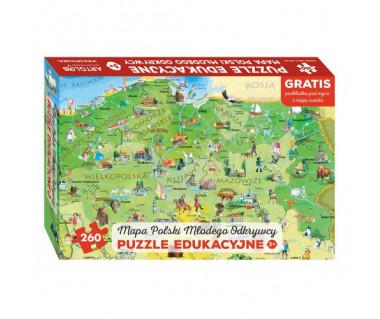 Puzzle 260 Polska młodego odkrywcy