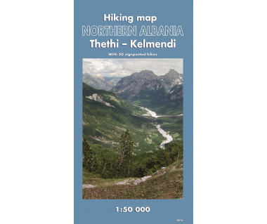 Northern Albania. Thethi - Kelmend hiking map