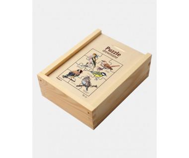 Puzzle drewniane Ptaki 3 (słowik...)