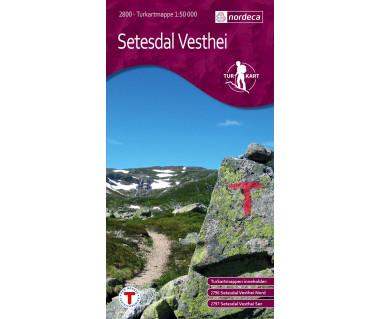 Setesdal Vesthei - Mapa turystyczna