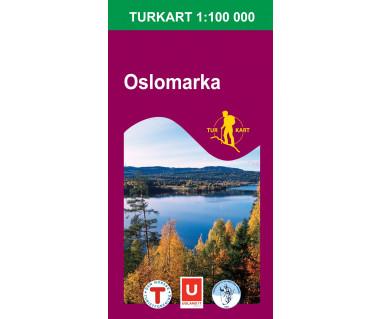 Oslomarka - Mapa turystyczna