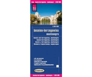 Bosnia and Herzegovina, Montenegro - Mapa wodoodporna