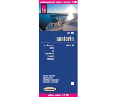 Santorin - Mapa wodoodporna
