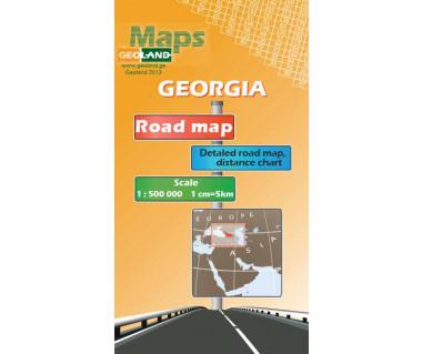 Gruzja mapa drogowa foliowana