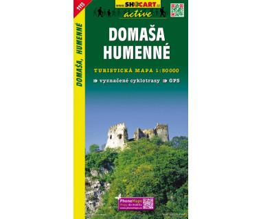 Domaša, Humenné - Mapa turystyczna