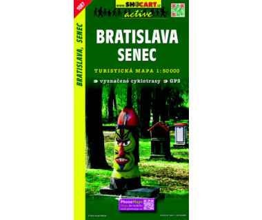 Bratislava, Senec - Mapa turystyczna