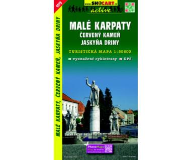 Malé Karpaty, Červený kameň - Mapa turystyczna