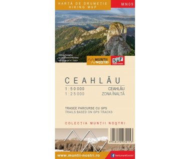Ceahlau harta de drumetie/hiking map